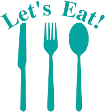 Amazon Com Let S Eat Knife Fork Spoon Vinyl Lettering Wall Decal Sticker 12 5 H X 11 5 W Turquoise Home Kitchen