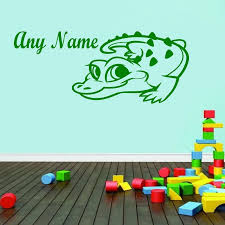 Alligator Wall Stickers Animal Boys Bedroom Wall Decor Customized Name Home Decor Wall Decals Decorative Wall Decal Name Wall Decalswall Decals Aliexpress
