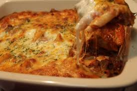 baked ziti with meat sauce i heart