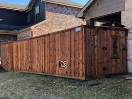 6ft Cedar Wood Fence With Pecan Stain J Luis Lawn And Fences Llc Facebook