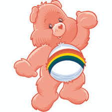 Cheer Bear Care Bear Cartoon Customized Wall Decal Custom Vinyl Wall Art Personalized Name Baby Girls Boys Kids Bedroom Wall Decal Room Decor Wall Stickers Decoration Size 40x40 Inch