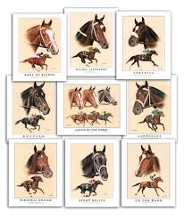 thoroughbred horse racing art for