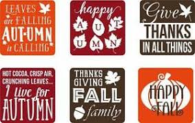 Set Of 6 Vinyl Decal Stickers For Glass Blocks Thanksgiving Fall Gift Home Decor Ebay
