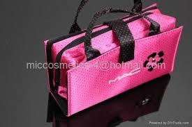mac makeup cosmetics bag pink