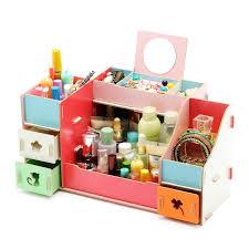 wooden storage box with mirror 30 8