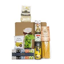 gift basket with truffle s eataly