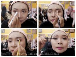 cara makeup muka nak berkilat