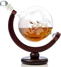 com whiskey globe decanter 28