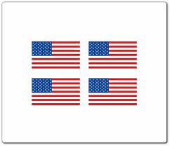 4 american flag stickers 1 x 2