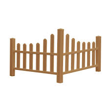 New England Arbors 2 6 Ft H X 4 6 Ft W Brown Composite Vinyl Country Corner Picket Fence Panel Va84050 The Home Depot