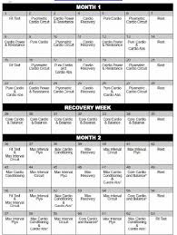 new insanity workout calendar printable