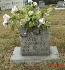 Avis L. Simmons (1957-1957) - Find A Grave Memorial