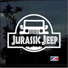 Jurassic Park Jeep Jeep Decal Stickers Aftermarket Replacement Non Factory Custom Sticker Shop
