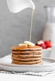 fluffy vegan buckwheat pancakes gluten