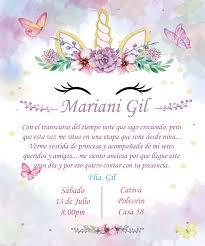 Invitacion Para Quince Anos Con Tematica De Unicornio Fiestas De