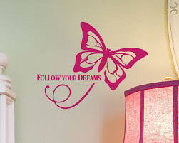 Butterfly Animal Wall Decal Vinyl Wall Sticker For Kids Rooms Quotes Follow Your Dreams Girls Bedroom Curly Tail Art Muralsyy937 Sticker For Kids Room Vinyl Wall Stickerswall Stickers For Kids Aliexpress