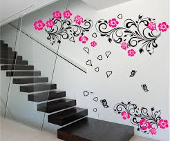 Large Floral Butterfly Love Wall Art Sticker Bedroom Lounge Decal Ebay