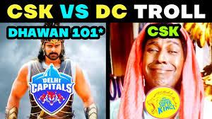 CSK VS DC TROLL