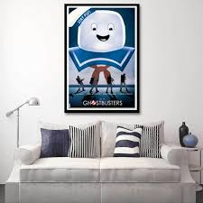 New Arrival Unframed Ghostbusters Stay Puft Marshmallow Man Canvas Oil Painting Posters Home Decor Wall Art For Living Room Wish