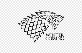 Winter Is Coming Poster Jon Snow House Stark Winter Is Coming Decal House Targaryen Game Of Trones Leaf Text Poster Png Pngwing
