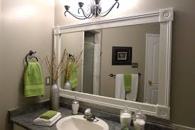 white frame bathroom mirror home