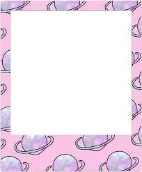 polaroid e pastel frame