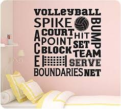 Amazon Com 24 Volleyball Sports Sayings Collage Spike Team Serve Set Net Wall Decal Sticker Art Mural Home Decor Home Kitchen