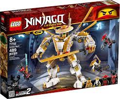 LEGO NINJAGO Legacy Golden Mech 71702 Kids Building Kit (489 ...
