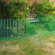Garden Patio Fence Panels 50m X 1m Green Plastic Mesh Safety Barrier Fencing 10 Steel Fencing Pins Posts Mtmstudioclub Com