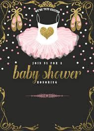 Ballerina Baby Shower Invitation Templates Cumpleanos De