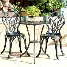 small outdoor patio table set chairs
