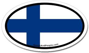 Finland Vinyl Sticker Oval For Cars Any Surface Lands People