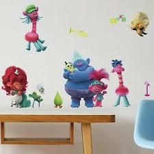 Trolls World Tour Peel Stick 24 Wall Decals Poppy Branch Girls Room Stickers 34878685410 Ebay