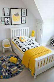 A Boy S Bedroom With Pops Of Yellow Kidsroomideas Kids Bedroom Decor Toddler Boys Room Toddler Rooms