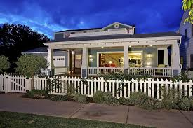 Lowes Vallejo Craftsman Exterior Also Covered Porch Craftsman Front Yard Gable Roof Shingle White Picket Fence White Railing White Trim Finefurnished Com