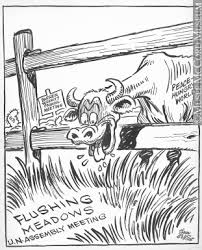 M965 199 554 The Grass On The Other Side Of The Fence Drawing Cartoon John Collins Mccord Museum