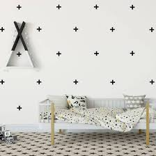 Swiss Crosses Wall Decal Rustic Chalk Decor