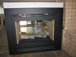 gas log double sided gas log fireplace