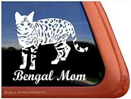 Amazon Com Bengal Mom Cat Vinyl Window Decal Sticker Automotive