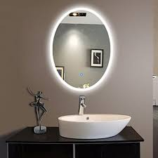 oval shape bath led mirror with frosted