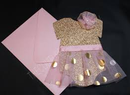Pink And Gold Tutu 1st Birthday Invite Pink Gold Dot Tutu