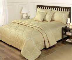 bedspread throw quilt gold luxury
