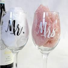 mr and mrs wine glasses sticker
