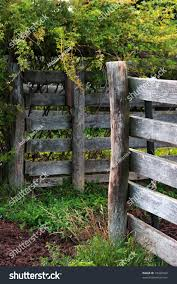 Rustic Fence Posts Stock Photo Edit Now 10430362