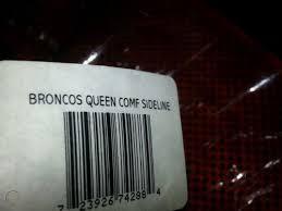 nfl denver broncos comforter set queen