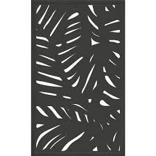 Modinex 5 Ft X 3 Ft Charcoal Gray Composite Framed Modinex Decorative Fence Panel Featured In The Palm Design Usamod1cf The Home Depot