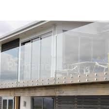 ss glass standoff terrace railing