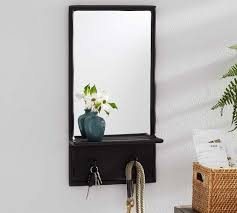 emory entryway mirror with wall hooks