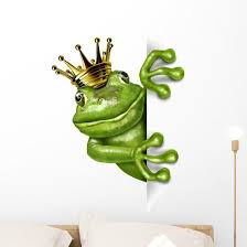 Frog Prince With Gold Wall Decal Wallmonkeys Com