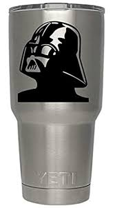 Classy Vinyl Creations Darth Vader Decal For Yeti Tumbler We Don T Sell Tumblers Ozark Trail Arctic Tumbler Decal Black Or White Decals 4 H X 3 5 W Amazon Com